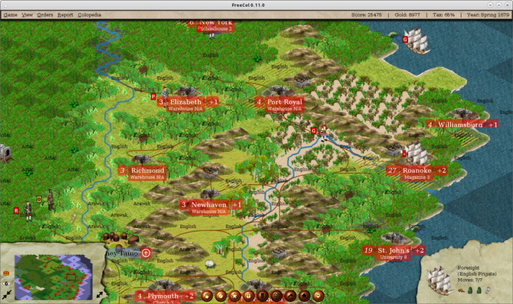freecol strategy game