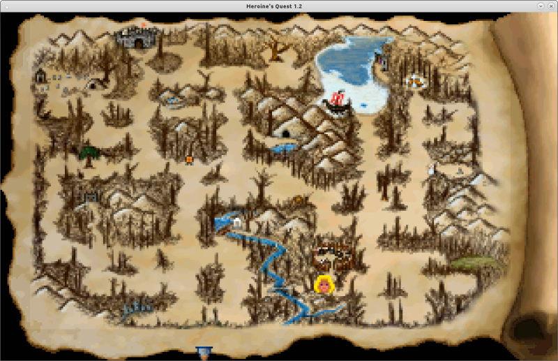 χάρτης heroine's quest